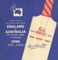 The Australian team under Ian Johnson toured England in the 1956 summer and played a five-match Test series. Peter May's team won the series 2-1  to retain The Ashes.