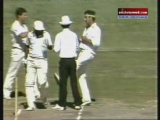 Lillee kicking Javed Miandad - a most undignified incident