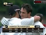 Rutherford ton on debut powers NZ: 1st Test, Day 3 (Dunedin)
