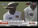 Dilshan retires from Test Cricket