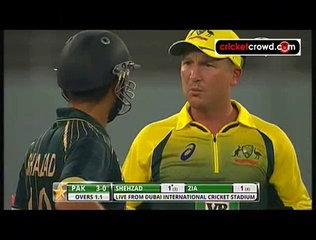 Get the Fxxk out of the way! Haddin sledges Shehzad (Dubai)