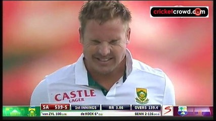 van Zyl debut ton and Amla double build lead: 1st Test, Day 2 (Centurion)