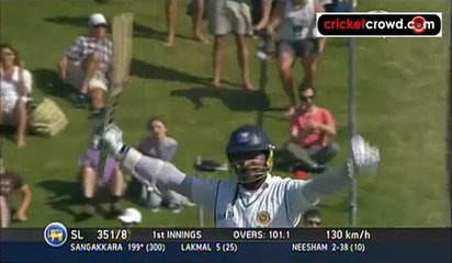 Sanga double ton powers SL ahead: 2nd Test, Day 2 (Wellington)