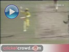 Funny: Greg Chappell obstructs throw, with a smile!