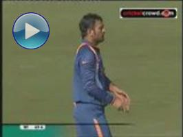 Bowled: Dhoni takes first ever international wicket