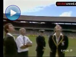 Finishing almost a hundred years to the day of the first Test, on March 17, 1977, the Centenary Test at the MCG had more memorable moments than most Test series. There was Rick McCosker, who was bowled off his jaw by Bob Willis, bravely returning, bandaged and wired up, in the second innings. Australia made just 138. Then there was the inspired and inspirational bowling of Dennis Lillee whose 5/26 doomed England to a paltry 95.There was Rod Marsh's 110, a cameo 66 from Doug Walters, and McCosker's return at number 9. And where you thought England might cave in, faced with a deficit of 463, the old enemy was 2/267 at lunch on the fifth day, with Lillee labouring and Gilmour injured, and Randall batting eccentrically on. Randall was given out on 161, but Marsh signalled that he hadn't taken the catch cleanly - but Randall was out at 174. The result, made in cricket heaven was 45, exactly the same as 100 years before. MCG, Mar 1977
