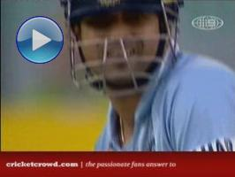 Sachin Breaks Free - against Brett Lee