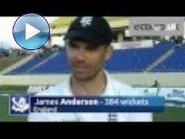 James Anderson: proud' to break Botham Test wicket record in 100th Test
