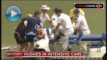 Hit by bouncer: Phil Hughes fighting for his life after surgery (SCG)