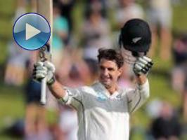 de Grandhomme slams fastest maiden century: 1st Test, Day 2 (Wellington)